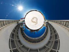 360 Degrees Panorama Of Modern Bridge Royalty Free Stock Photography