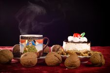 Free Cake And Coffe Royalty Free Stock Photography - 24047697