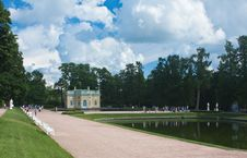 Free Pavilion By Pond In Catherine Park, Tsarskoye Selo Royalty Free Stock Photography - 24048097