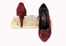 Free Elegant Handbag And Shoes For Women Royalty Free Stock Photos - 24048358