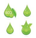 Free Elegance Green Drops Water Eco Sign Stock Photo - 24053710