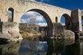 Free Roman Bridge At Besalu, Spain Stock Image - 24054951