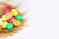 Free Basket With Colorful Easter Eggs Stock Photography - 24055642