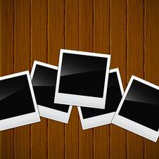Free Photos On A Wooden Surface Stock Photos - 24050093