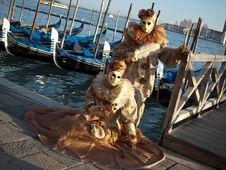 Free Couple At Venice Carnival 2012 Royalty Free Stock Photo - 24050245