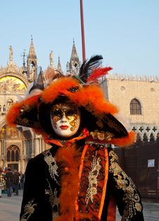 Free Beaufitul Mask At Venice Carnival 2012 Stock Photography - 24050272
