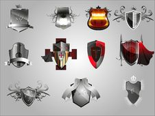 Free Medieval  Shields. Royalty Free Stock Images - 24051549