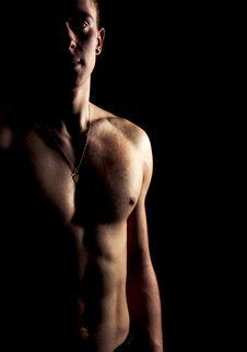 Free Silhouette Of An Athlete Stock Photo - 24053950