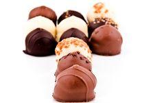 Free Chocolate Pralines Royalty Free Stock Image - 24054616