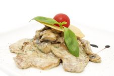 Free Meat With Mushrooms Royalty Free Stock Photos - 24055428