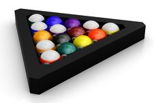 Free Colorful Pool Balls Over White Stock Photos - 24057713