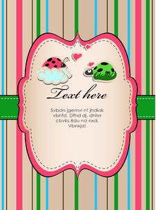 Free Background With Ladybirds In Love. Royalty Free Stock Photography - 24057747