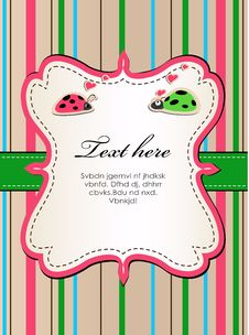 Background With Ladybirds In Love2. Stock Photo