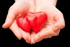 Free Heart In Hand Stock Photography - 24058292