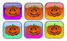 Halloween Buttons Stock Photo