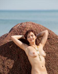Naked Woman Sunbathing Royalty Free Stock Photos