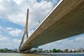 Free Rama VIII Bridge In Bangkok Viewed From Below Royalty Free Stock Photos - 24066498