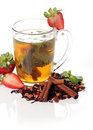 Free Fruit Tea With Strawberry Royalty Free Stock Images - 24069789