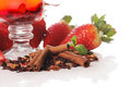 Free Fruit Tea With Strawberry Royalty Free Stock Photography - 24069797