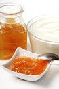 Free Dessert With Orange Jam Stock Image - 24069851