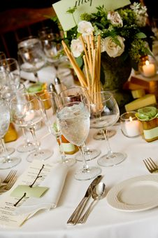 Free Wedding Table Details Royalty Free Stock Image - 24060976