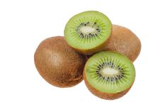 Free Kiwi On A White Background Stock Photos - 24062933