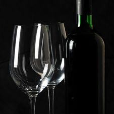 Free Bottle And Glasses Stock Images - 24064084