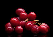 Free Bunch Of Red Grapes Royalty Free Stock Photos - 24064278