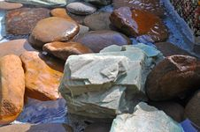 Free Rocks In A Water Fountain Stock Photography - 24065622