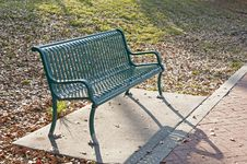 Free Green Metal Bench Royalty Free Stock Image - 24065646