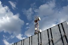 Free Radio, Television ,telephone - Antenna. Stock Image - 24067131