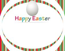 Free Happy Easter Banner Royalty Free Stock Photos - 24069348