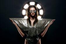 Free Fashion Model In Stylish Snake Image Royalty Free Stock Photo - 24069505
