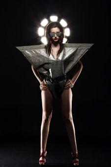 Free Fashion Model In Stylish Snake Image Stock Photos - 24069523