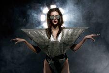 Free Fashion Model In Stylish Snake Image Royalty Free Stock Images - 24069529
