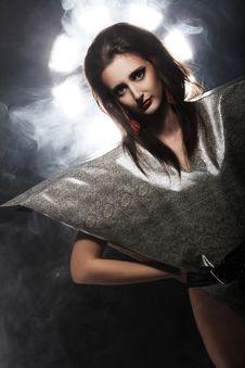 Free Fashion Model In Stylish Snake Image Royalty Free Stock Photos - 24069538