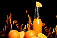 Free Hot Orange Drink Royalty Free Stock Photo - 24069595