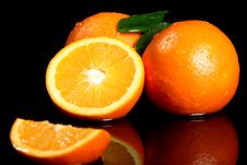 Free Close Up Of Fresh Orange Fruit Royalty Free Stock Photo - 24069645