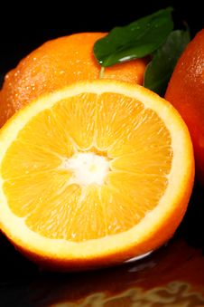 Free Close Up Of Fresh Orange Fruit Royalty Free Stock Photos - 24069648