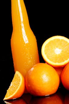 Free Fresh Orange Drink Royalty Free Stock Photo - 24069665