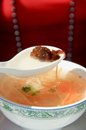 Free Eating Hot Soup Royalty Free Stock Photography - 24070367