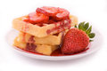 Free Waffles With Syrup Royalty Free Stock Image - 24076886