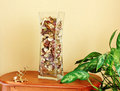 Free Glass Vase Filled With Flower Petals Stock Image - 24078541