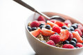 Free Bowl With Muesli And Fruits Royalty Free Stock Photo - 24078745