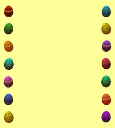 Free Easter Egg Border Stock Photo - 24072250