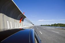 Free Highway With Protection Walls Stock Photography - 24072692