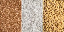 Free Buckwheat, Rice And Pasta Patterns Stock Images - 24074504