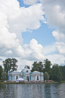 Russia. Tsarskoe Selo. Pavilion Grotto Royalty Free Stock Photography