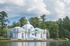 Russia. Tsarskoe Selo. Pavilion Grotto Stock Image