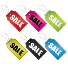 Free Sale Tags Royalty Free Stock Image - 24076146